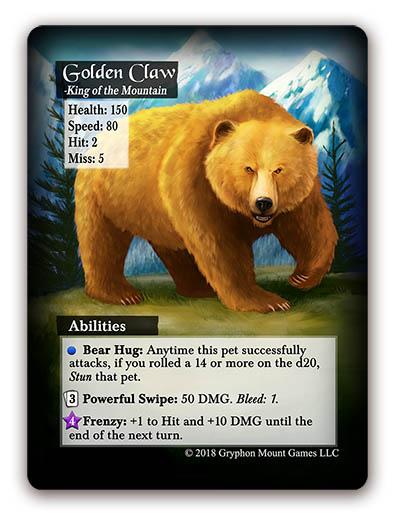 Familiar pet cards, Golden Claw