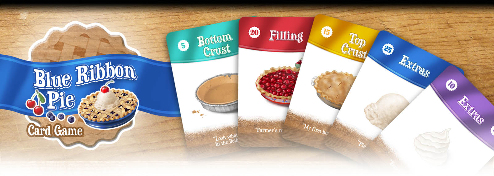 Blue Ribbon Pie card game banner