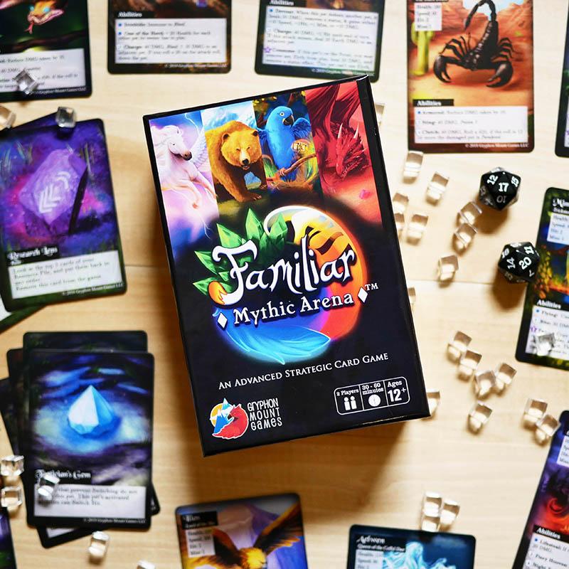 Familiar Mythic Arena card game