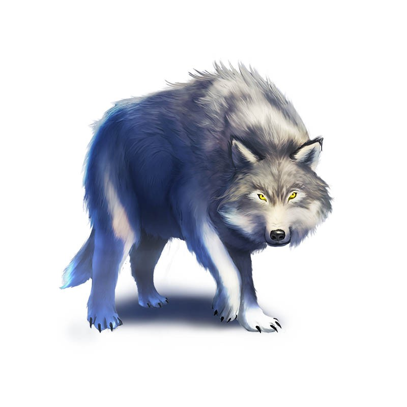 Silver Paw, the Great Wolf from Familiar Mythic Arena