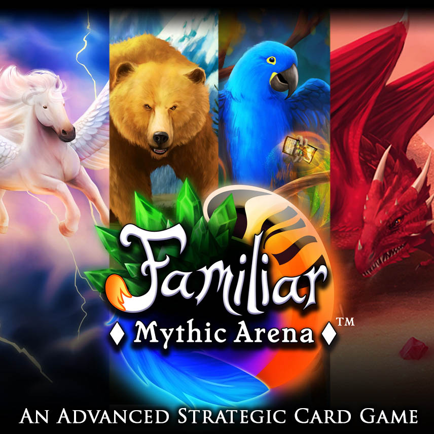 Familiar Mythic Arena logo and familiars