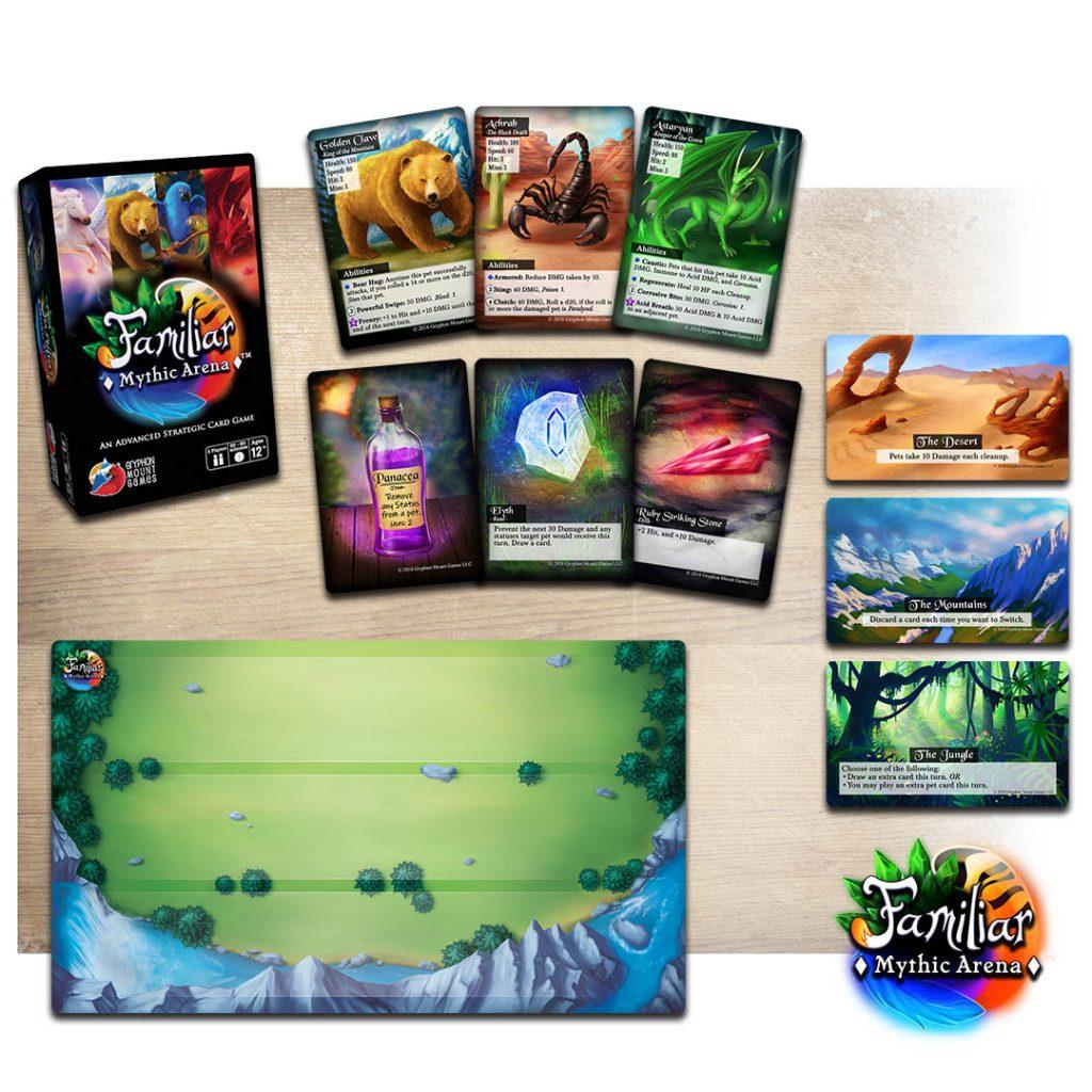Familiar mythic arena artwork examples